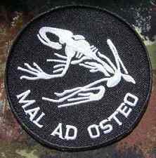 MAL AD OSTEO US NAVY SEALS FROGMAN BAD TO THE BONE WARFARE VELCRO® BRAND PATCH