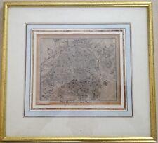 Paris 1830 plan de ville encadré