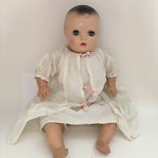 "Vintage Horsman Composition Doll 18"" Cloth Body Eyelashes Clothes Crier Molded"
