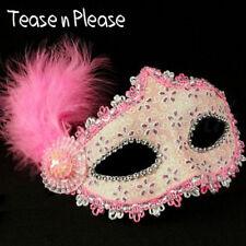Seductive Ladies Pink Glitter Mask Tease n Please. Fantasy, Masquerade Hen Night