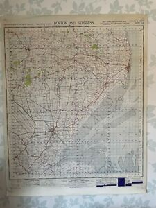 1949 Military System Map Boston & Skegness War Office Edition Lincolnshire