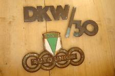 orig altes Emblem Schriftzug Motorhaube DKW Schnellaster Typ 30 Autounion