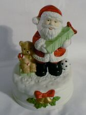 "MUSICAL SANTA CLAUS FIGURINE PLAYS ""HERE COMES SANTA CLAUS "" STATUE 6"""