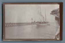 France, Trouville, Le Phare  Vintage citrate print. Calvados  Tirage citrate