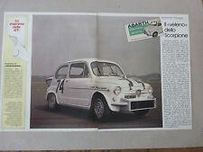 ARTICOLO FIAT ABARTH 850 TC NURBURGRING --  1984