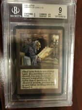 MTG Alpha Library Of Leng BGS Graded 9 Mint