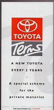 Toyota Terms Finance Scheme 1993-94 UK Market Foldout Brochure MR2 Corolla