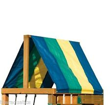Multicolor Canopy Swing-N-Slide Replacement Tarp Roof Shade Playground Swingset