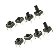100PCS SPST Mini Micro Momentary Tactile Push PCB Button Switch  6x6x4.3mm-13mm