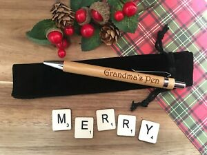 Christmas Cracker Gift Personalised Wood Pen Present Engraved Xmas Holidays