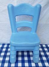 Little Tikes blue Chair Country Kitchen ladder back vintage Victorian child size