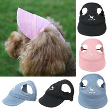 Cute Puppy Pet Dog Sun Hat Cap With Ear Holes for Small Large Dogs S/M/L/XL