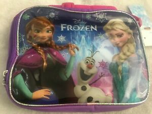 Disney Frozen Elsa, Anna and Olaf insulated Lunch Bag box hand bag girl gift UK