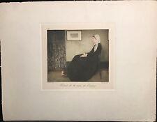 "James McNeill Whistler Engraving ""Portrait de La Mere"" ~ WHISTLER'S MOTHER, 1883"