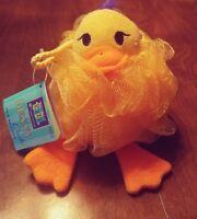 Rubber Ducky Duck Bath Time Sponge Yellow Mesh Cloths Scrubby Bubble Maker