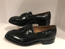 Johnston & Murphy Men's Optima Wingtip Black Tassel Loafers Size 10 EEE