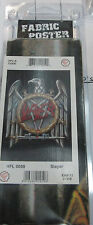 SLAYER TEXTILE POSTER FLAG  RARE NEW NEVER OPENED DEATH DESTRUCTION PENTAGRAM