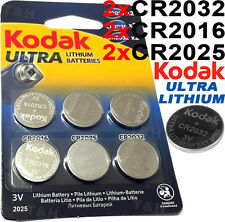 CR2032 CR2025 CR2016 Kodak ULTRA LITHIUM 3v Coin Cell Batteries For Car Key etc