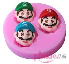 Cartoon Mario Silicone Fondant Mould Cake Decorating Chocolate Baking Mold