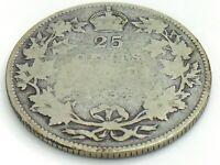 1934 Canada 25 Twenty Five Cent Quarter Canadian Circulated George V Coin J342