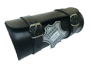 MOTORCYCLE MOTORBIKE REAL LEATHER TOOL ROLL SADDLE BAG ZN-TRB006