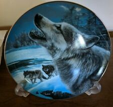 Realm of the Wolf Collector Plate EVENING SONG-Bradford exchange