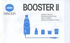 Minolta Booster II Instruction Manual multi-language for auto meter/flash meters