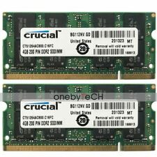 8GB 2x4GB DDR2-800 PC2-6400 PC2-6400S Laptop Notebook SODIMM Memory RAM 200-Pin