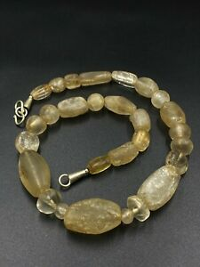 Rare Ancient crystals quartz beads necklace from Central Asia 500 BC