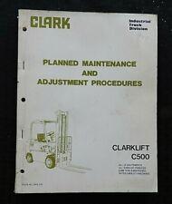 "CLARK C500 ""60 70 80"" FORKLIFT LIFT TRUCK SERVICE MAINTENANCE MANUAL"