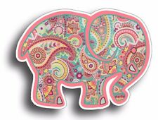 Pink Elephant Paisley Sticker Car Cup Tumbler Decal Bumper Laptop Girl Girly