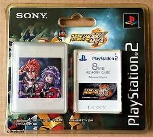 PS2 Super Robot Wars MX 8MB Memory Card (2004) Brand New & Sony Factory Sealed