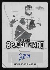 16/17 Leaf Metal Draft Class Jason Robertson Black Printing Plate Autograph #1/1