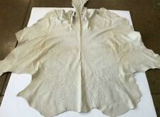 Real Ostrich skin Hide Off White Naked