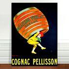 "Vintage Liquor Advertising Poster Art ~ CANVAS PRINT 8x12"" Cognac Pellisson"