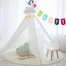Children/Kids White Indian Style Teepee Playhouse Play Tent Indoor Outdoor Toys