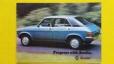 AUSTIN MORRIS MINI 850 1000 GT Allegro Maxi Principessa HL HLS SUPER BROCHURE GAMMA
