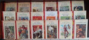 Lot 18 anciens livres jeunesse Bibliothèque Rouge et Or 1949 à 1956
