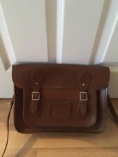 Leather Cambridge Satchel Company tan brown shoulder cross body bag vintage