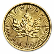 Gold Canadian Maple Leaf 1/10 oz Coin