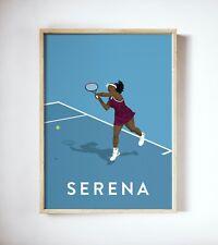 More details for serena williams art print, tennis player poster, vintage australia open print