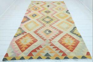 "Vintage Turkish Barak Kilim Rug Large Rug Antique Kelim Carpet 70""X120"" Area Rug"