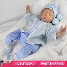 22'' Reborn Newborn Dolls Handmade Vinyl Silicone Baby Boy Doll Gift Toy+Clothes