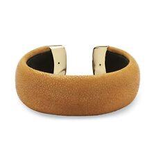 PalmBeach Jewelry Rust Stingray Cuff Bracelet in Yellow Gold Tone