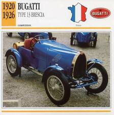 1920-1926 BUGATTI Type 13 Brescia Racing Classic Car Photo/Info Maxi Card