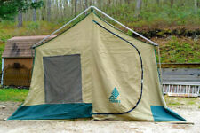 Vintage HILLARY Canvas Tent 9' X 11' Family Camping Cabin Tent