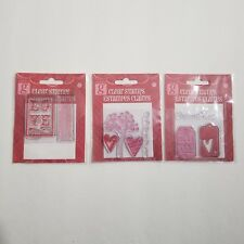 Valentine Clear Stamps Hampton Arts Love Tree Heart Sent With Love Script Tags