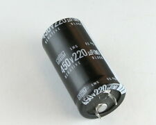 7x 220uF 450V Radial Snap In Mount Electrolytic Aluminum Capacitor 85C 450VDC