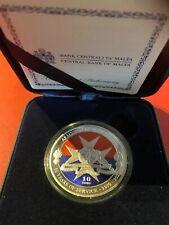 Malta 10 Euro PP Silber 2020** 50 Jahre Streitkräfte von Malta ** farbig