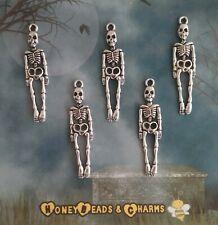 10 Skeleton Antique Bronze Large Key Charms Pendant Santa 60mm TSC64